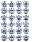 24 x Queens Park Rangers Edible Wafer Paper Cup Cake Toppers QPR